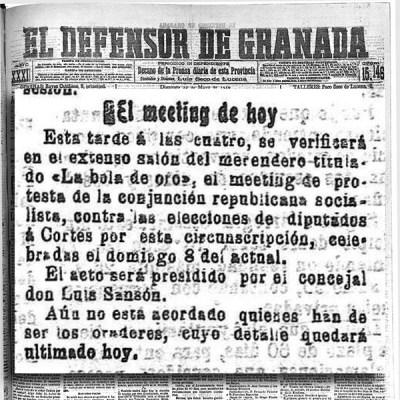 MITIN EN EL MERENDERO BOLA DE ORO