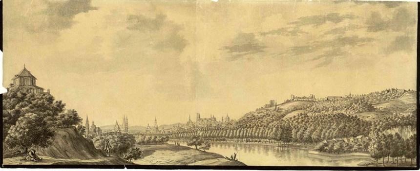VISTA DEL GENIL Y ERMITA DE SAN ANTONIO - 1743