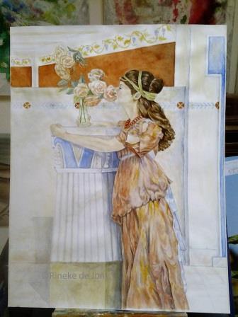 Alma Tadema lassieke verleiding