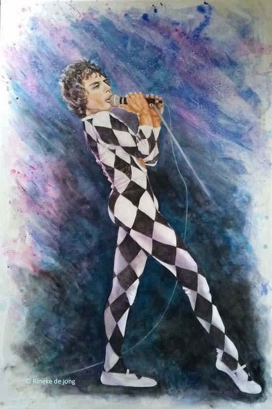 freddie mercury - het schilderij