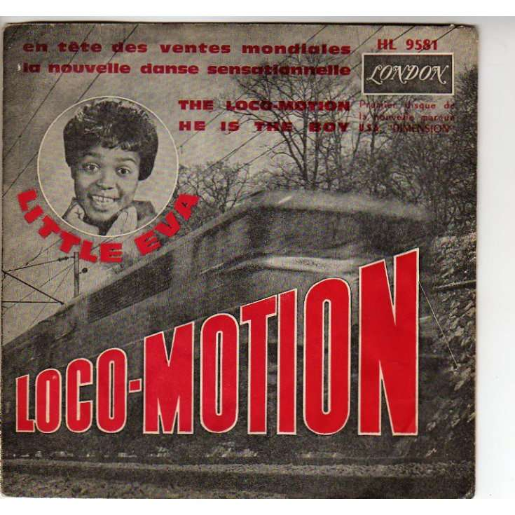 "The album artwork for Little Eva's ""Loco-Motion"""