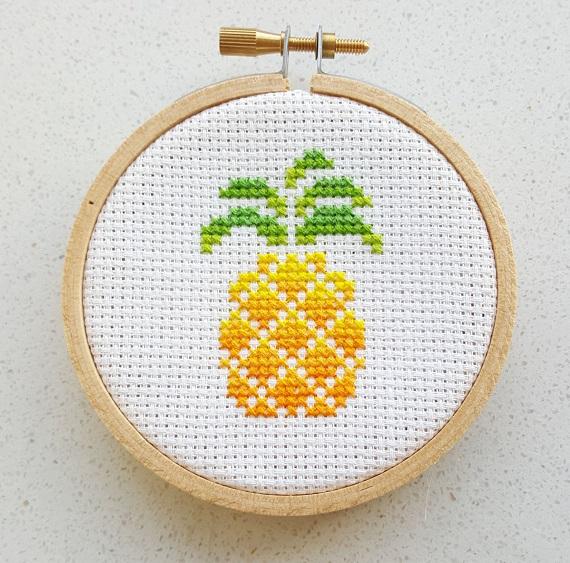 pineapple cross stitch pdf pattern