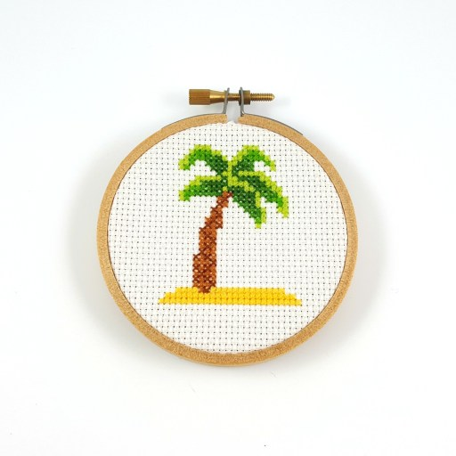 palm tree cross stitch pdf pattern
