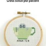 mana tea cross stitch pdf pattern