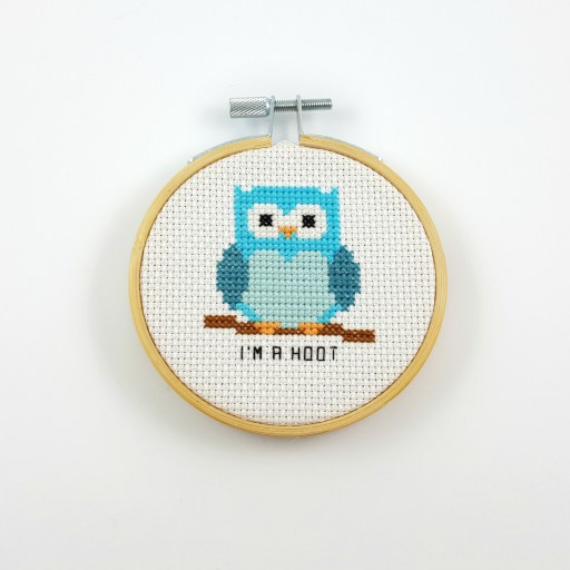 I'm a hoot cross stitch pdf pattern