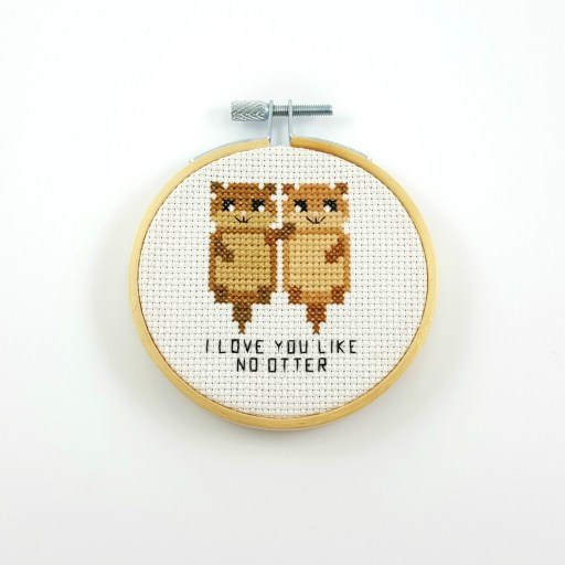 I love you like no otter cross stitch pdf pattern