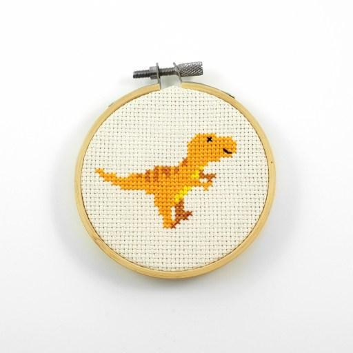 t-rex cross stitch pdf pattern