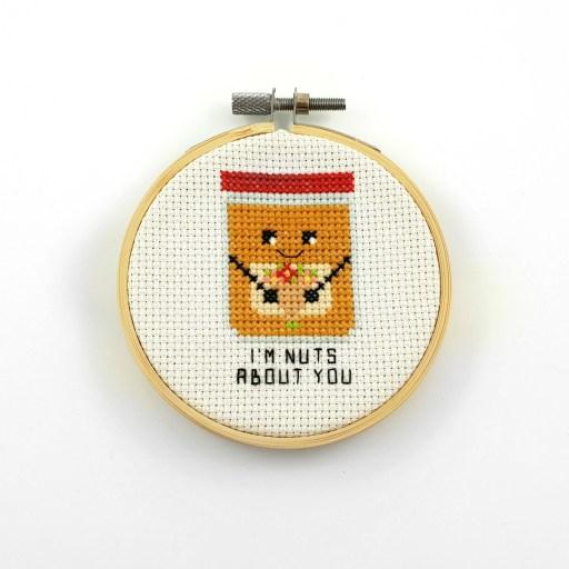I'm nuts about you cross stitch pdf pattern