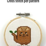 cat a log cross stitch pdf pattern