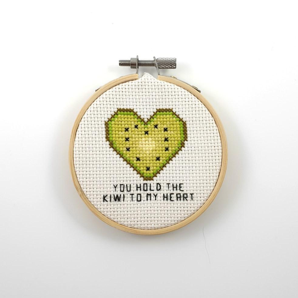 you hold the kiwi to my heart cross stitch pdf pattern