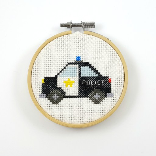 police car cross stitch pattern