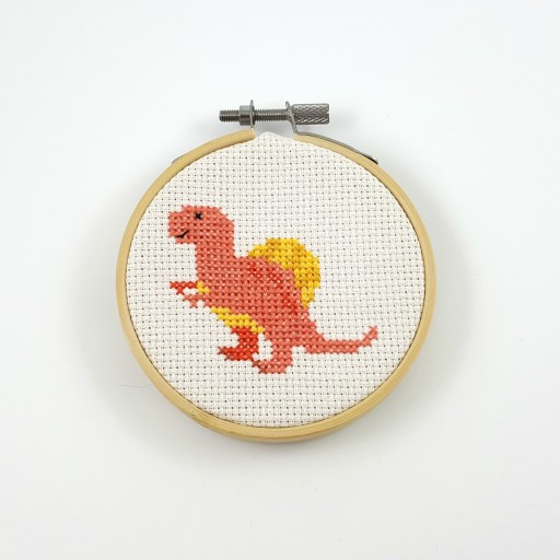 Spinosaurus cross stitch pfd pattern