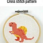 Spinosaurus cross stitch pfd pattern