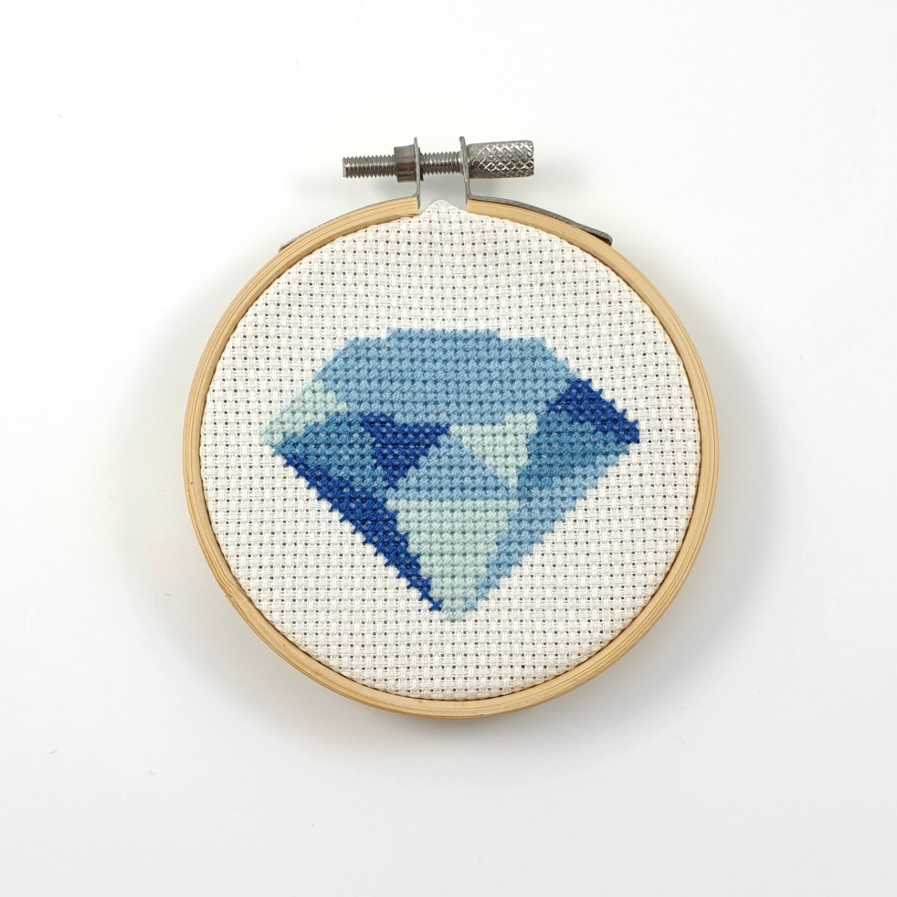 Geometric diamond cross stitch pdf pattern