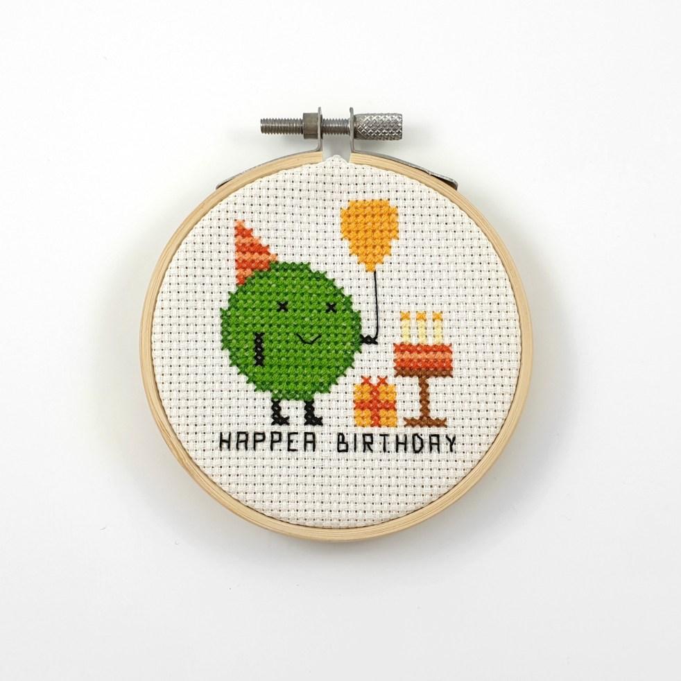 Happea birthday cross stitch pdf pattern