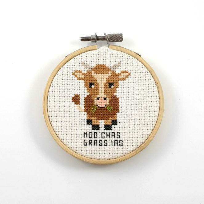 moo chas grass ias cross stitch pdf pattern