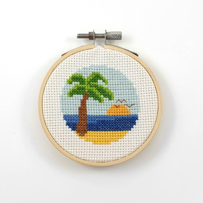 Palm beach cross stitch pdf pattern