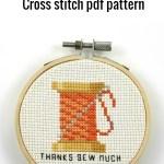 Thank you sew much cross stitch pdf pattern