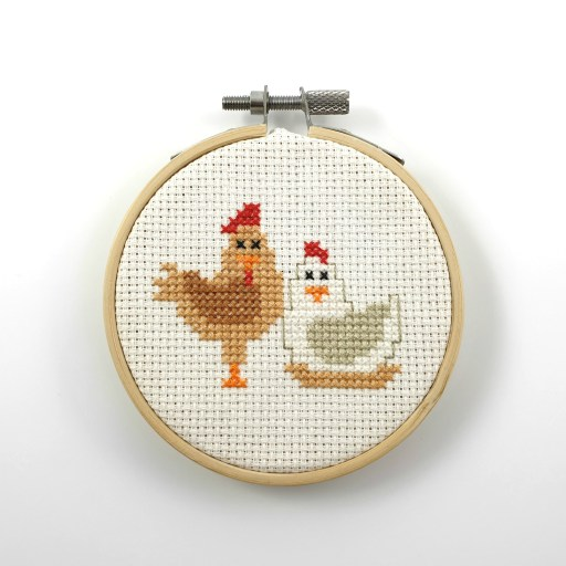 Chickens cross stitch pdf patterns
