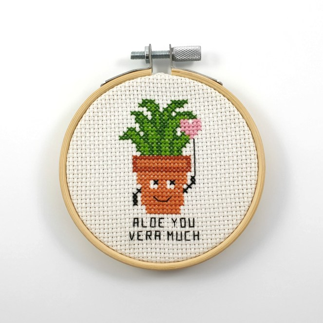 Aloe you vera much cross stitch pdf pattern