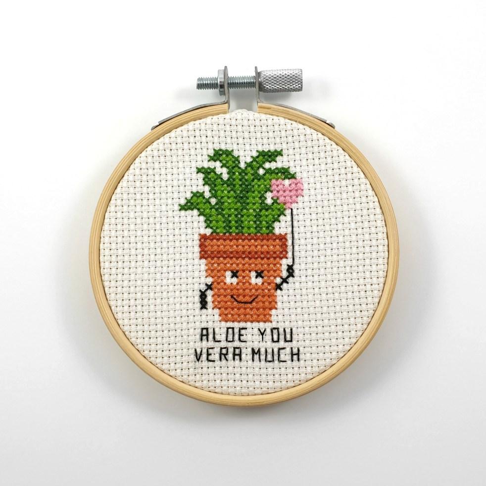 Aloe you vera much cross stitch pdf pattern