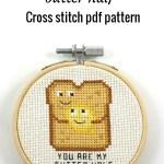You are my butter half cross stitch pdf pattern