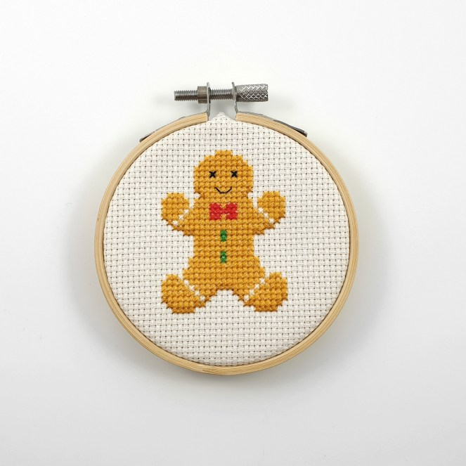 Gingerbread man cross stitch pdf pattern