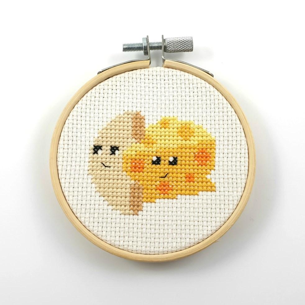 mac'n'cheese cross stitch pdf pattern