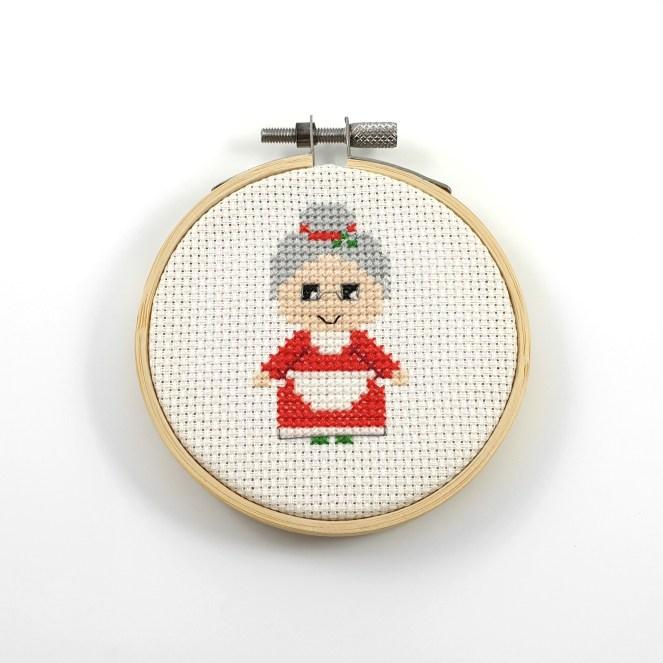 Mrs. Clause cross stitch pattern