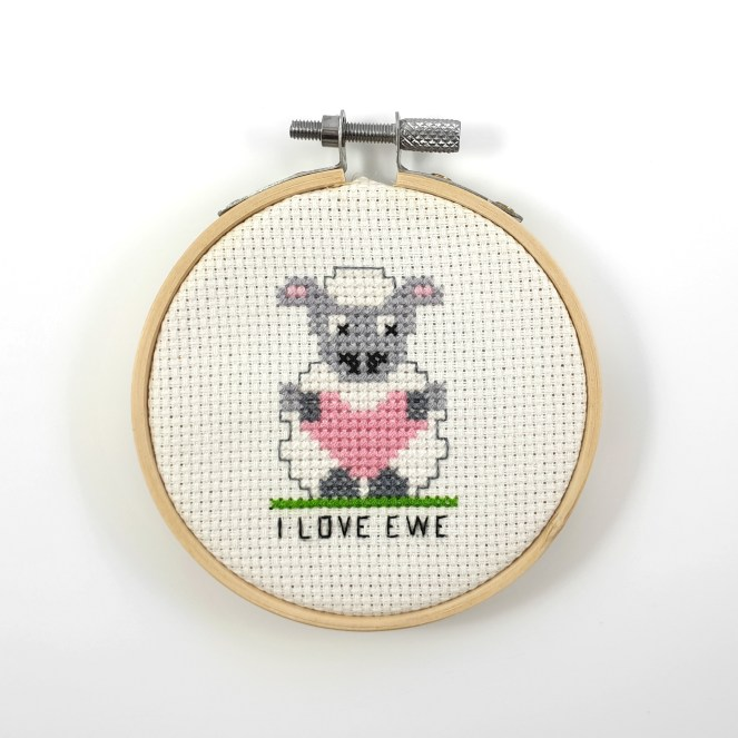 I love ewe cross stitch pdf pattern
