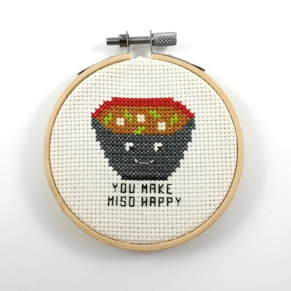 You make me so happy cross stitch pdf pattern