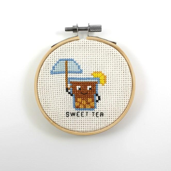 Sweet tea cross stitch pdf pattern