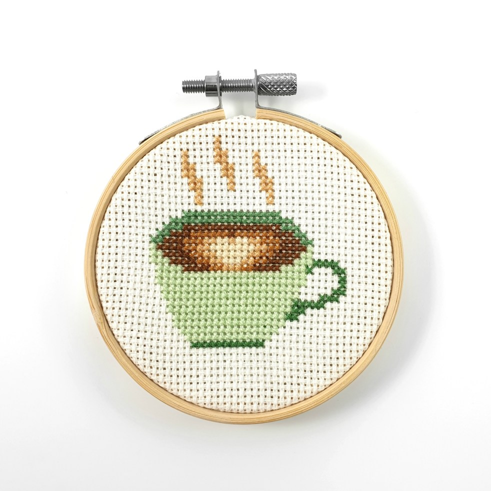 coffee cross stitch pdf pattern