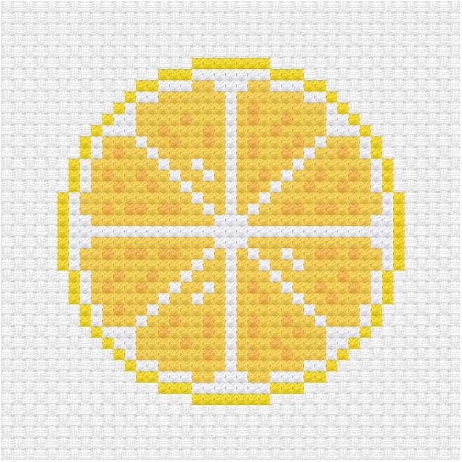 Lemon cross stitch pdf pattern