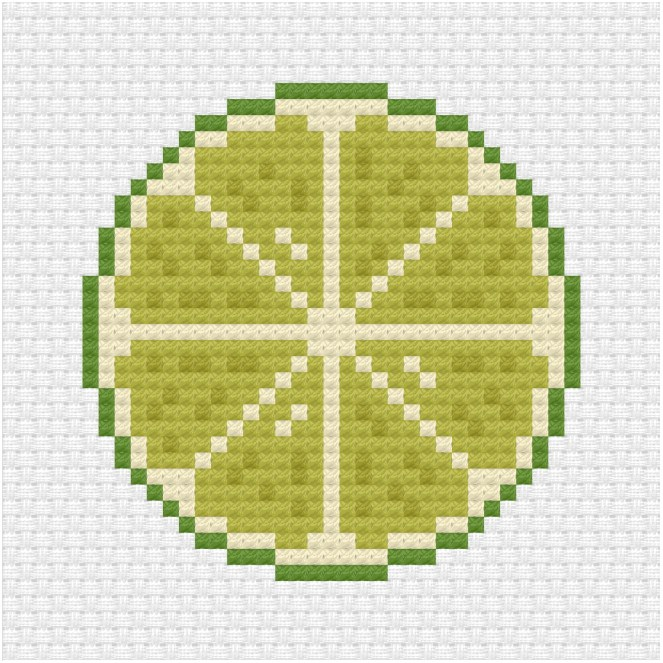 Lime cross stitch pdf pattern