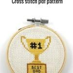 Best dad trophy cross stitch pdf pattern