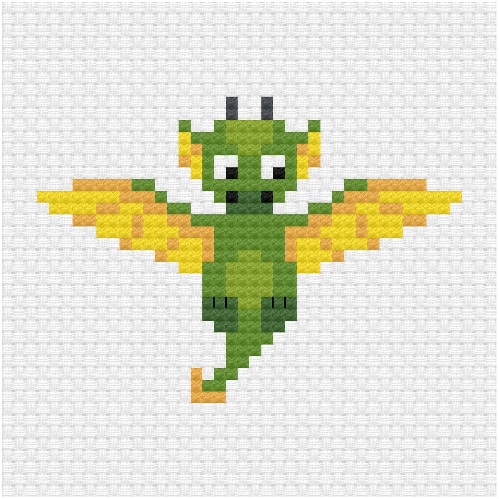 Dragon cross stitch pdf pattern
