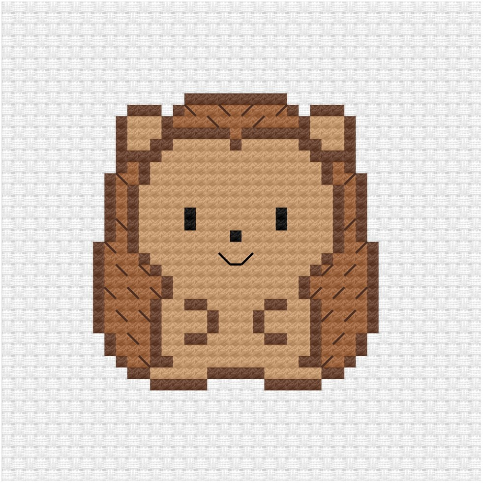 Hedgehog cross stitch pdf pattern