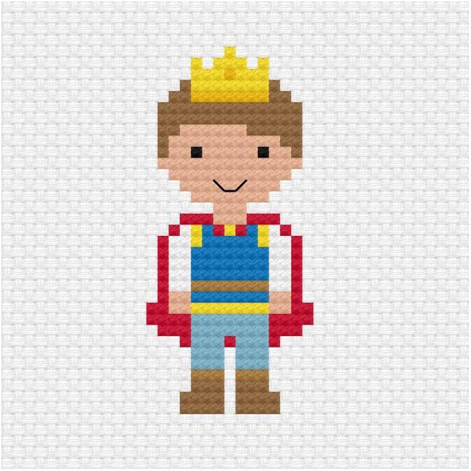 Prince cross stitch pdf pattern