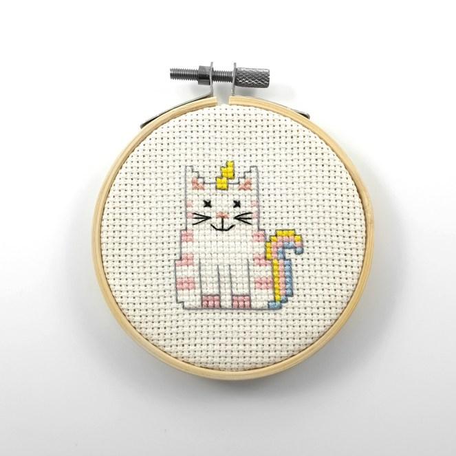 Unicorn cat cross stitch pdf pattern