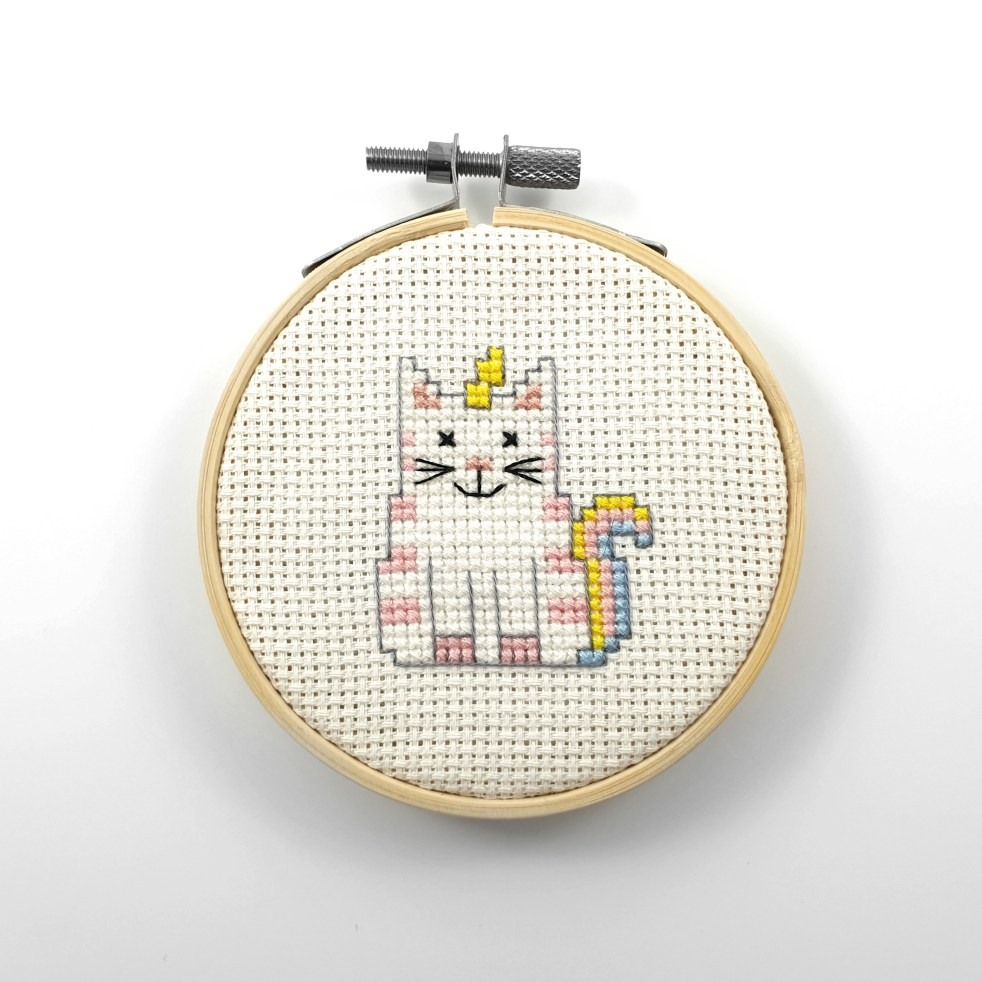 Unicorn cat cross stitch pdf pattern