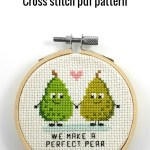 We make a perfect pear cross stitch pdf pattern
