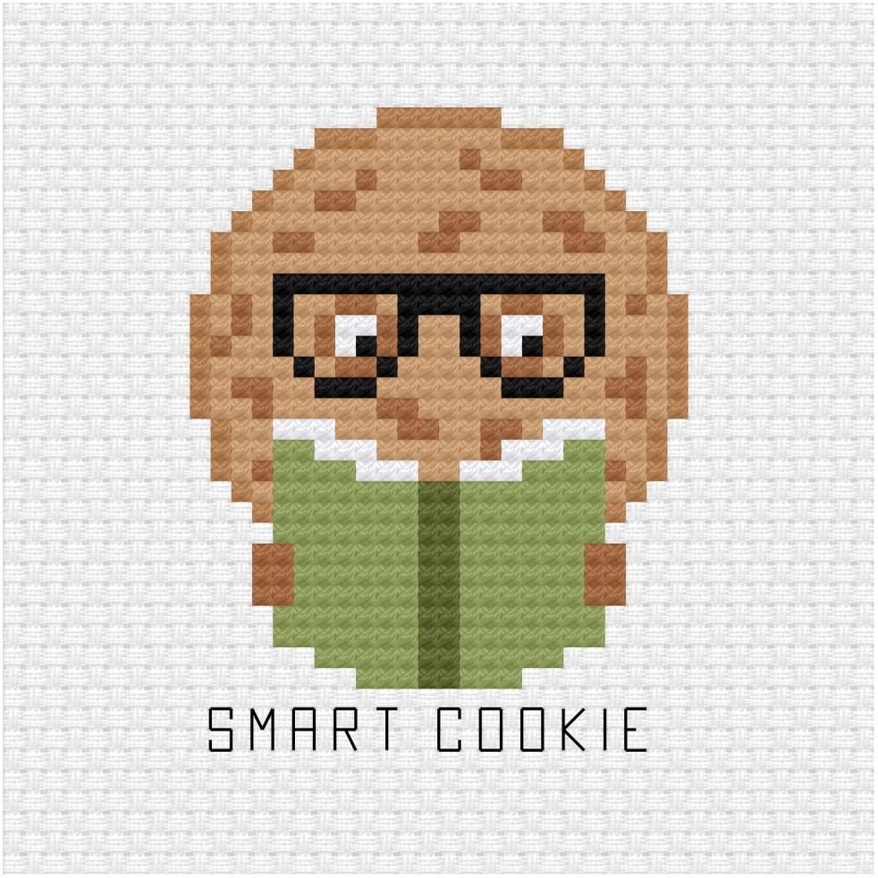 Smart cookie cross stitch pdf pattern