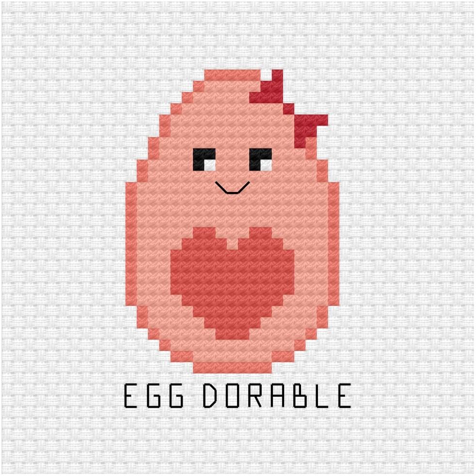 Egg dorable cross stitch pdf pattern