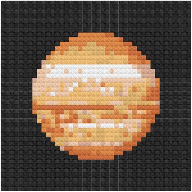 Jupiter cross stitch pdf pattern