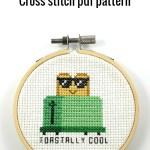 Toastally cool cross stitch pdf pattern