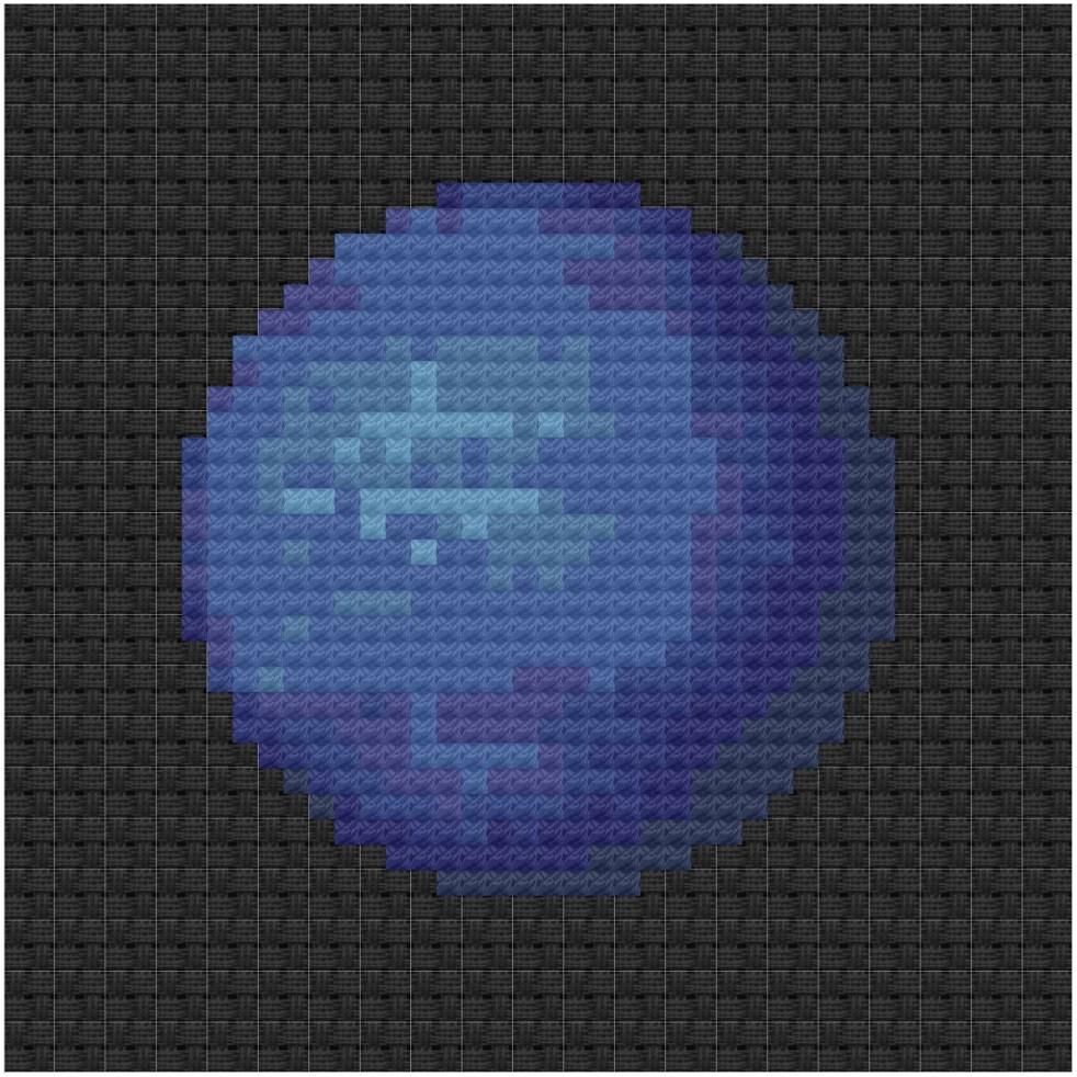 Neptune cross stitch pdf pattern