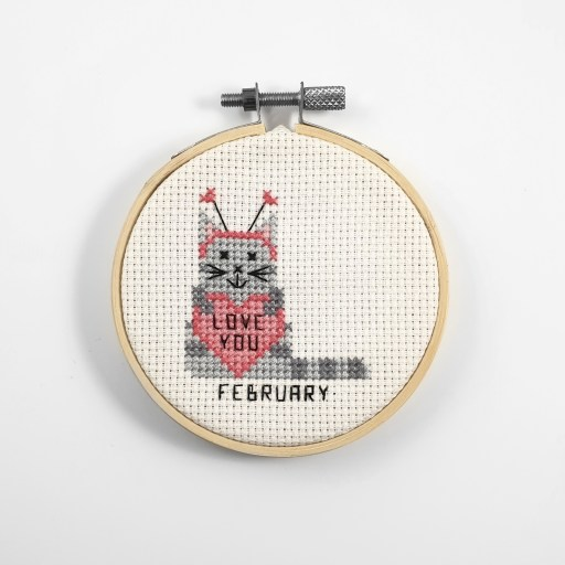 February cross stitch pdf pattern