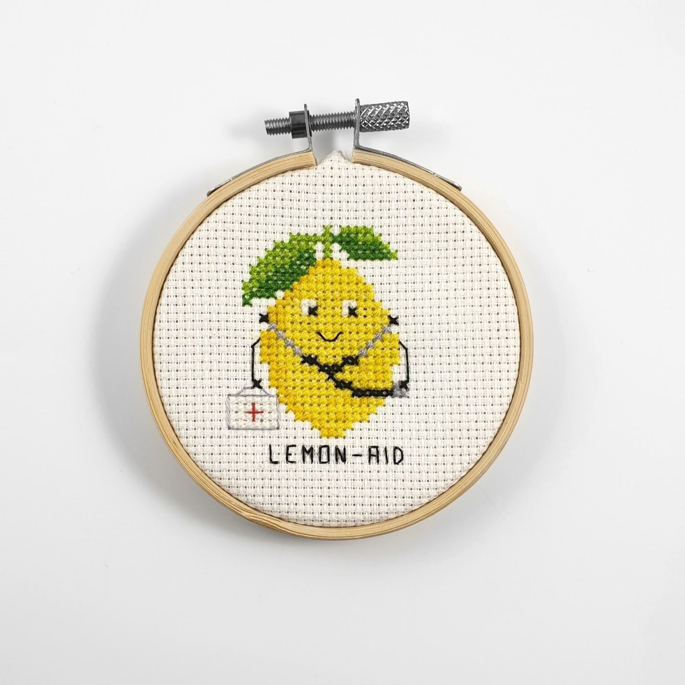 Lemon-aid cross stitch pdf pattern
