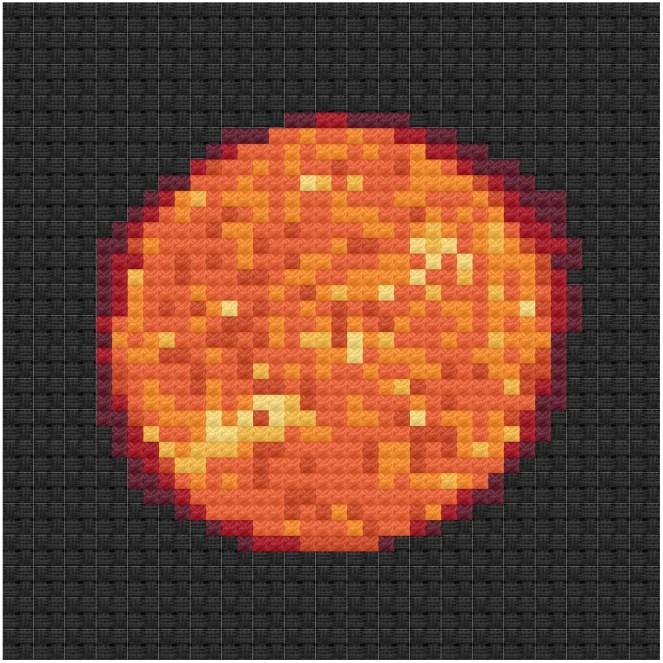 Sun cross stitch pdf pattern